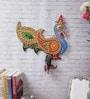 Ecraftindia Multicolour Papier Mache Beautiful Embossed Bird Design Key Holder