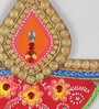 Multicolour Papier Mache Floral Tilak Design Key Holder by eCraftIndia