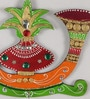 Multicolour Papier Mache Kalash Shehnai Holder by eCraftIndia