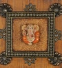Multicolour Papier Mache Kundan Lord Ganesha Key Holder by eCraftIndia