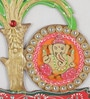 Ecraftindia Multicolour Papier Mache Lord Ganesha Under Tree Key Holder