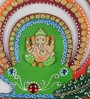 Multicolour Papier Mache Lord Ganesha with Mor Pankh Key Holder by eCraftIndia