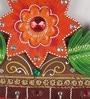 Multicolour Papier Mache Rose Leave Key Holder by eCraftIndia