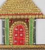 Ecraftindia Multicolour Papier Mache Traditional Village Hut Key Holder