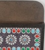 Multicolour Wooden Stone Studded Key Holder by eCraftIndia