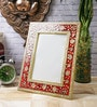 Red & Gold Marble 8 x 2 x 10 Inch Studded Photo Frame by eCraftIndia