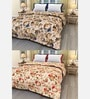 eCraftIndia Multicolor Poly Cotton 84 x 54 Inch Single Bed Reversible AC Blanket - Set of 2