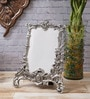 Silver Metal 6.5 x 0.5 x 8.5 Inch Antique Finish Rectangular Photo Frame by eCraftIndia