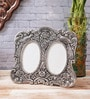 Silver Metal 7.5 x 0.5 x 6.5 Inch Antique Finish Round Collage Photo Frame by eCraftIndia