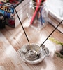 Silver Metal Om Incense Stick Holder by eCraftIndia