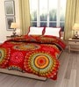 eCraftIndia Red Cotton Traditional Design Single Bed Reversible AC Comforter