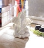 White Synthetic Fibre Chaturbhuj Lord Ganesha with Crown by eCraftIndia