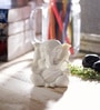 White Synthetic Fibre Lord Ganesha by eCraftIndia