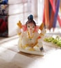 White Synthetic Fibre Lord Ganesha with Bun by eCraftIndia