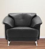 Edo One Seater Sofa in Black Colour