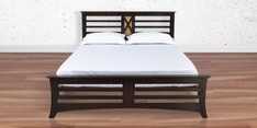 Edge Queen Size Bed in Walnut Finish