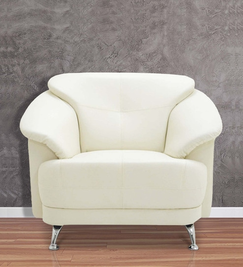 Strange Edo 1 Seater Sofa In Ivory Colour By Furnitech Bralicious Painted Fabric Chair Ideas Braliciousco
