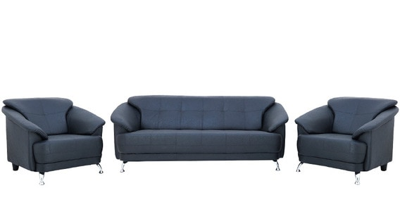 Buy Edo 3 1 1 Seater Sofa Set In Black Colour By