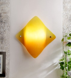 Eglo Orange and Green Glass Wall Mounted Light at pepperfry