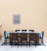 Acropolis Eight Seater Dining Set in Warm Chestnut Finish