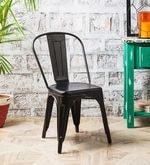 Ekati Metal Chair in Black Color with Eyelet