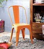 Ekati Metal Chair in Orange Color with Eyelet