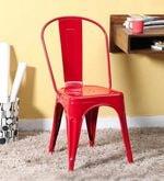 Ekati Metal Chair in Red Color