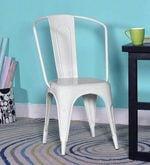 Ekati Metal Chair in White Color