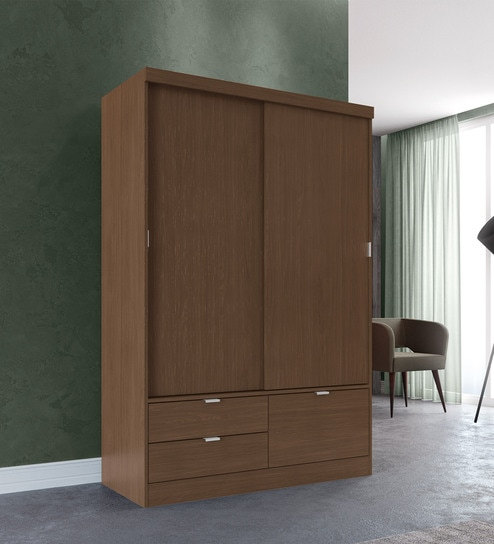 new style 0eb25 a7331 Ekei 2 Door Sliding Wardrobe with 2 Drawers by Mintwud