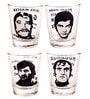 Ek do dhai Villians Shot glass set of 4