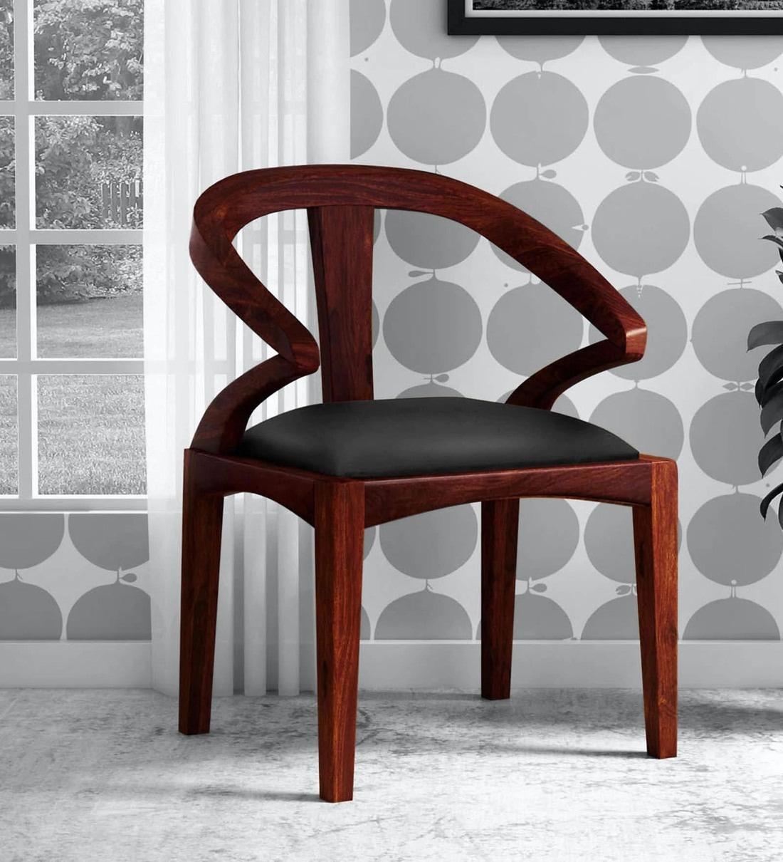 Buy Elegant Solid Wood Armchair in Honey Oak Finish by ...