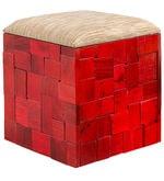 Ella Box Pouffe Red Colour