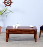 Elliston Coffee Table in Honey Oak Finish