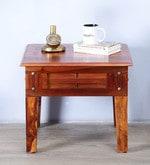 Elliston End Table in Honey Oak Finish