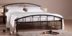 Elegant Metal Queen Size Bed in Black Finish