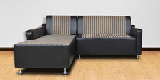 Elite Two Seater Sofa with couch in Black Colour