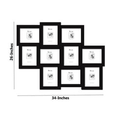 Elegant Arts & Frames - 10-in-1 Collage Photo Frame P 319-E H 8 X 6 ( Synthetic Wood )