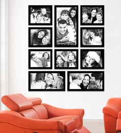 fdee467fe05 Black Synthetic 38 x 1 x 43 Inch Group 10-E Wall Collage Photo Frame by  Elegant Arts and Frames