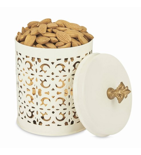 Elan Flecked Off White Stainless Steel Canister