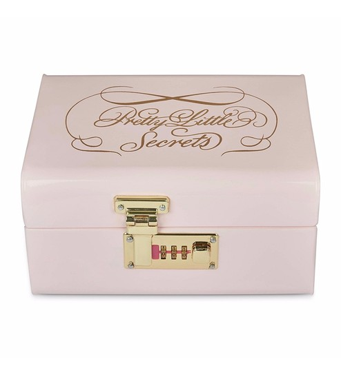 Elan Vintage Style Pretty Little Secrets Powder Coated Steel Pink Storage  Trunk With Lock