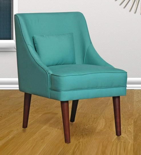 Accent Chairs.Eleanor Accent Chair In Green Colour By Peachtree
