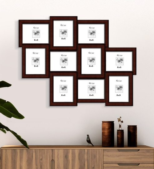Elegant Arts & Frames - 10-in-1 Collage Photo Frame P 319-23 V 8 x 6 (  Synthetic Wood )