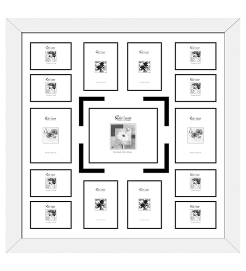 Buy Elegant Arts and Frames White Synthetic 34 x 34 Inch Collage ...