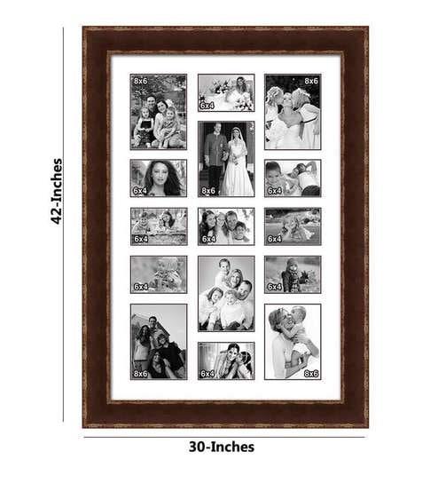 Elegant Arts and Frames 15 Pocket IM-4703-431 Family Black & Brown ...