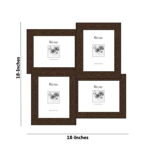 Buy Elegant Arts and Frames Brown Synthetic Wood 18 x 18 Inch ...