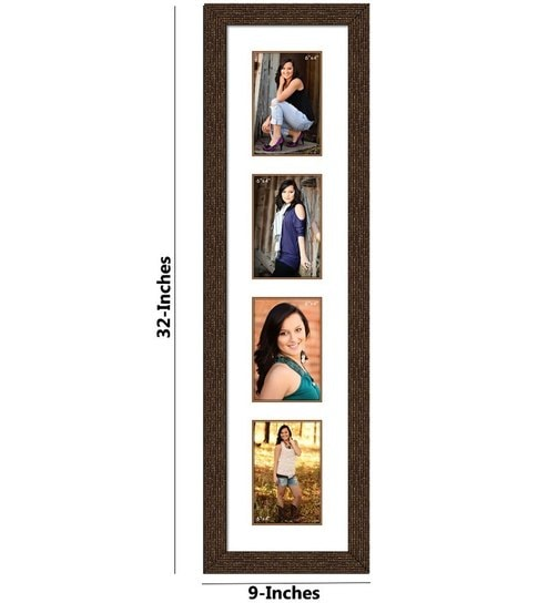 Buy Brown Synthetic Wood 9 X 32 Inch Collage Photo Frame By Elegant