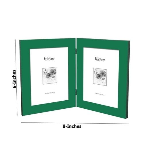 Buy Elegant Arts & Frames Double Photo Frame Dark Green Online ...