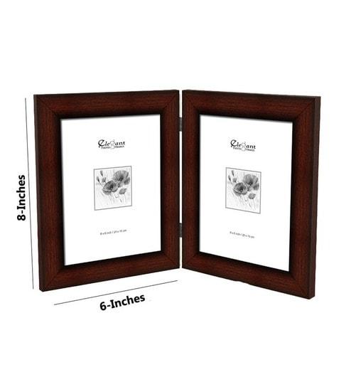 Buy Elegant Arts & Frames Double Photo Frame Natural Brown Online ...