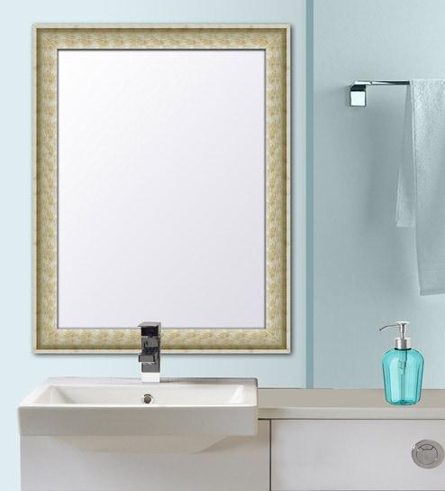 Synthetic Wooden Bathroom Mirror