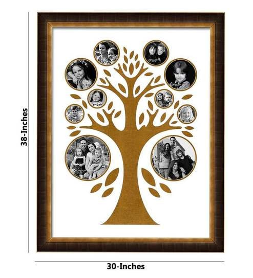 Buy Elegant Arts and Frames Family Tree Brown Synthetic Wood Collage ...